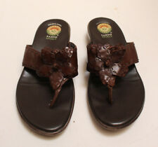 Women's EARTH SPIRIT Gelron 2000 Brown Leather Sandals SHERWOOD Size 8 1/2