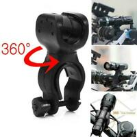 360° Rotation Torch Clip Mount Bicycle Bike Light Flashlight Bracket Holder B3C9