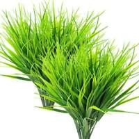 8 Pcs Artificial Outdoor Plants, Fake Plastic Greenery Shrubs Wheat Grass R2M1