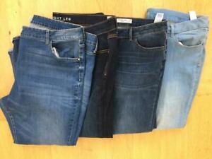 M & S Mixed Jeans Bundle  x 4  Size 24 Short