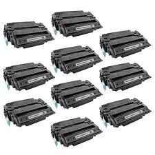 10 CE255X 55X HY BLACK Printer Toner Cartridge for HP LaserJet Pro M521dn MFP