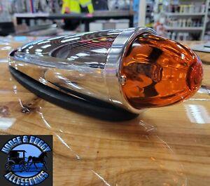 watermelon real glass lens Peterbilt Kenworth cab marker lights chrome new 92542
