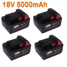 4x For Milwaukee 5.0AH 18V  M18 M18B4 48-11-1828 Red Lithium Ion XC 5.0 Battery