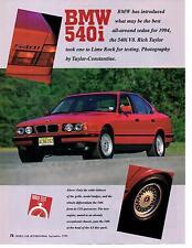 1994 BMW 540i  ~  ORIGINAL 4-PAGE ARTICLE / AD