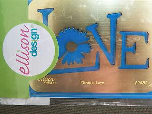 NEW ELLISON SIZZIX Embossing Folders Plastic Brass Discontinued Universal