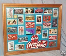 FRAMED COLLECTION OF RARE COKE COCA COLA PHONECARDS