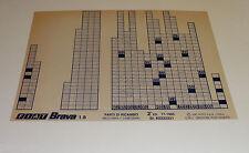 Microfich Ersatzteilkatalog Fiat Brava 1.8 Stand 11/1995