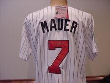 Joe Mauer Auto'd White 2010 Authentic Majestic Jersey, Minnesota Twins, MINT!!