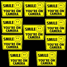 WATERPROOF STORE SMILE YOUR ON SECURITY SURVEILLANCE CAMERA WARNING STICKERS LOT