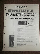 ORIGINAL Kenwood TH 21A 21AT 21B Service Repair Manual FM Handheld Transceiver