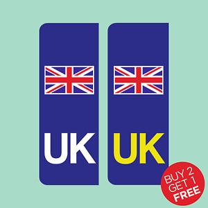 UK Car Number Plate Sticker. Vans, Lorrys, Caravan - UK, Union Jack, EU, Europe