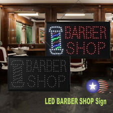 Led Ultra Bright Neon Light Animated Flashing Barber Shop Sign Color Display