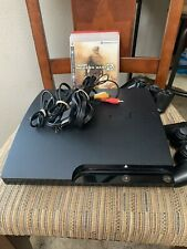 Sony PS3 Slim 250GB Charcoal Black Console CECH-2001B PlayStation 3 WORKS GREAT!