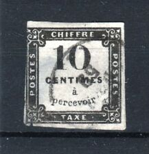 "FRANCE STAMP TIMBRE TAXE N° 1 "" 10c NOIR LITHOGRAPHIE "" OBLITERE A VOIR  R588"