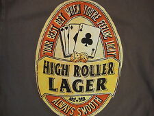 """High Roller Lager """"your best bet when you're feeling lucky"""" Beer T Shirt M"""