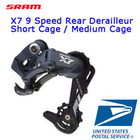 Sram RD X7 9 Speed Rear Derailleur Short / Medium / Long Cage Black MTB