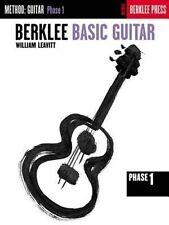 Berklee Basic Guitar Phase 1 Beginner Music Lessons Technique Reading Book NEW