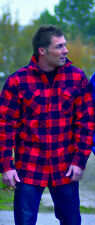 Kanadisches Holzfäller Hemd Jacke Größe  L Rot - Schwarz kariert Red/Black