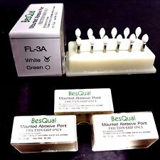 36 Football Mounted White Stone Dental Stone Polishing - FG
