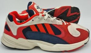 Adidas Yung 1 Suede Trainers B37615 Red/Blue/White UK10.5/US11/EU45