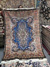 Masterpiece Silk 400 Knots Tebriz Mowje Mehr Hand-Knotted 5x7 Area Rug
