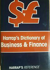 Harrap's Dictionary Of Business&Finance 1989 Hardback