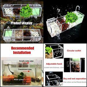 Fish Tank Aquarium Filter Box Different Grids Ext.Hang Water Purifier More  O2