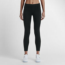 Women's Nike Sportswear Bonded Leggings 726021 010 SIZE M Black Black