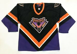 Vintage SP Philadelphia Phantoms AHL Hockey Jersey Adult M Black Canada Sewn