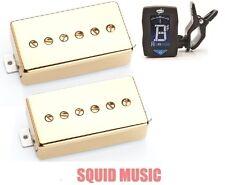 Seymour Duncan Phat Cat Gold Cover Set SPH90-1b & SPH90-1n (FREE GUITAR TUNER)