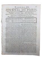 Tarascon en 1790 Robespierre M de Beaumetz Lambesc journal de Paris révolution