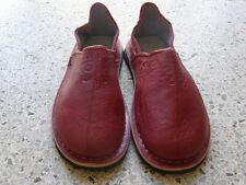 Moroccan Hand Made Red Leather Shoes Size Women 11