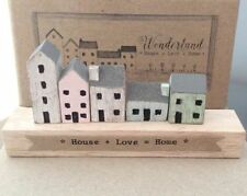 East Of India Wooden Wonderland Street Houses Home Love Gift Boxed