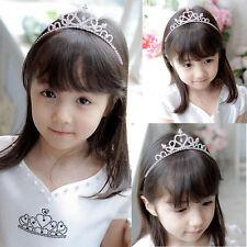 Kids Girls Rhinestone Tiara Hair Band Bridal Princess Prom Heart Crown Headband