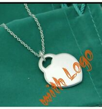Uk New stamped 925 SILVER HEART NECKlace LADY LOVER WIFE birthday christmas GIFT