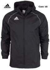 adidas Junior Boys Rain Jacket Waterproof Coat Top Hooded Hoodie Wind Stopper Black 164 13-14 Years
