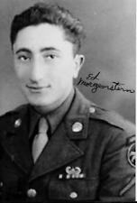 ED MORGENSTERN 17TH AIRBORNE  DIV.BATTLE OF THE BULGE VETERAN RARE SIGNED PHOTO
