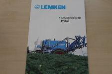 158047) Lemken Anhängerfeldspritze Primus Prospekt 03/2013