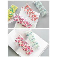 Summer Fruits Transparent See Through Plastic Pencil Case Cosmetics Make Up Bags