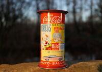 alte Spardose Litfaßsäule Plakatsäule Sammlerstück 60er Reklame Coca Cola