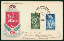 MayfairStamps New Zealand 1953 Silverdale combo 2 Health Stamps Cover wwr5467