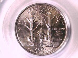 2001 D Washington State Quarter PCGS MS 66 Vermont 70080519