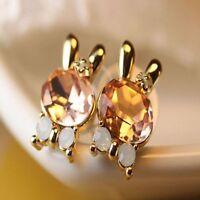 Lovely Shine Crystal Animal Bunny Rabbit Earring Rhinestone Jewelry Ear Studs