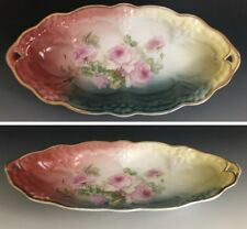 Antique Hand Painted C. T. Altwasser Silesia Germany Porcelain Oval Dish