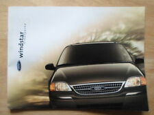 FORD WINDSTAR orig 1999 USA Mkt large format sales brochure