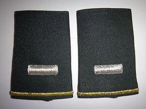 Pair Of US Army 1st LIEUTENANT Small Slip-On Epaulets Shoulder Badges