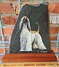 Vintage Mimi Baker One Of A Kind Slate Afghan Hound Artist Creation!