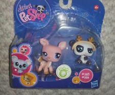 Littlest Pet Shop  Pink Deer & Panda with Antlers #1413 & 1414 NIB