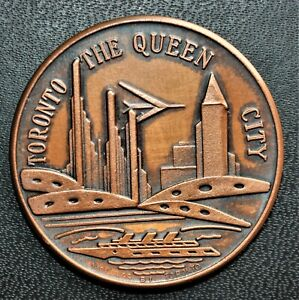 Toronto 'The Queen City' Commemorative Medal, AE 40mm