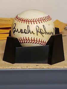 Brooks Robinson autographed rawlings BOBBY brown baseball